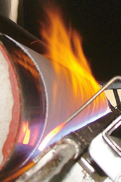 Bruciapelo su tessuti Tisco